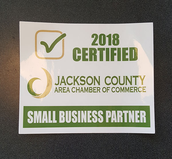 2018 Certified Jackson County Chamber of Commerce